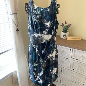 Antonio Melani Blue & Green Watercolor style Dress